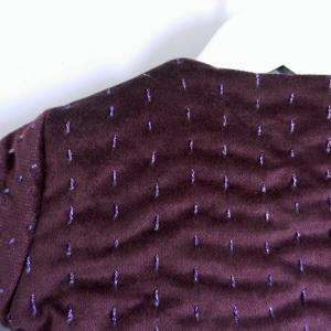 Duchesse or ange 254 c veste bebe velours grenat satin de coton gris molleton baby padded jacket velvet purple grey