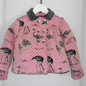 Duchesse or ange 263 veste flamands roses col velours gris pink flamingo jacket grey velvet collar a