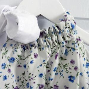 Duchesse or ange 269 maillot de bain fleurs bleues blue flowers bathing suit b