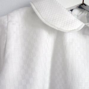 Duchesse or ange doa 270 chemise blanche carreaux bebe col claudine peter pan collar baby white shirt checkered c
