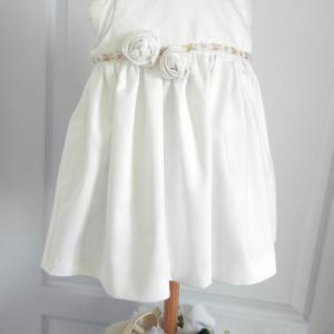 Duchesse or ange doa 274 robe bapteme roses blanches christening dress white roses a