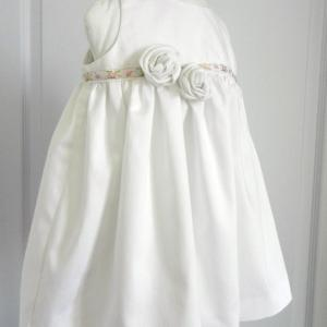 Duchesse or ange doa 274 robe bapteme roses blanches christening dress white roses c