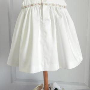 Duchesse or ange doa 274 robe bapteme roses blanches christening dress white roses d