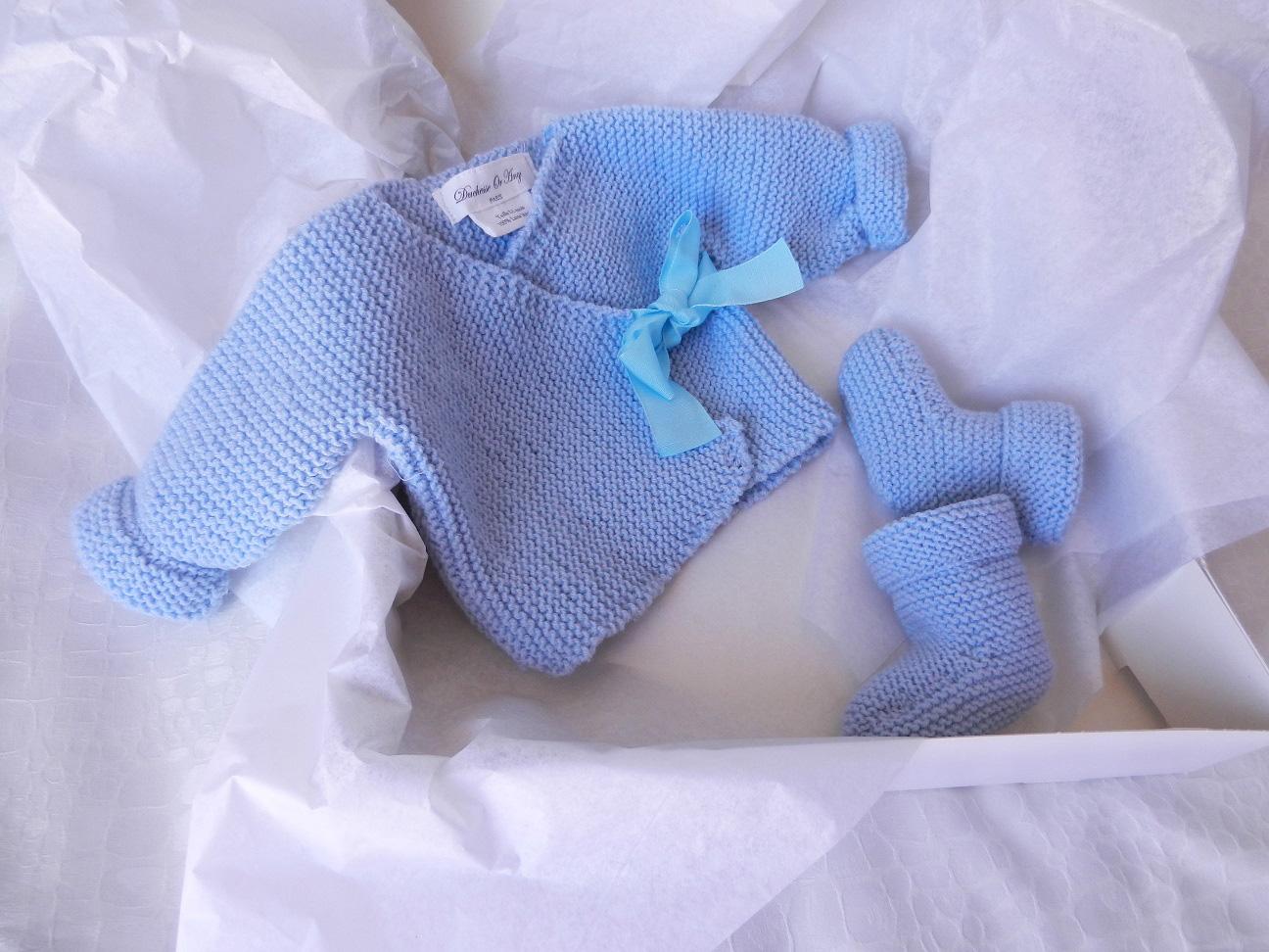 Duchesse or ange doa 277 ensemble naissance bleu ciel
