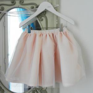 Duchesse or ange doa 280 jupe en tulle et voile de lin rose poudre powder pink skirt a