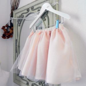 Duchesse or ange doa 280 jupe en tulle et voile de lin rose poudre powder pink skirt b