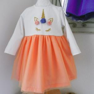 Duchesse or ange doa 290 robe licorne bebe enfant baby child unicorn dress b