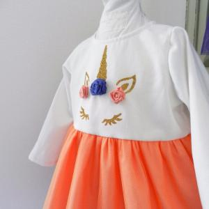 Duchesse or ange doa 290 robe licorne bebe enfant baby child unicorn dress d