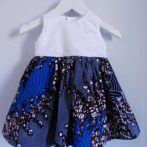 Duchesse or ange doa 291 robe wax dentelle bebe enfant baby child lace wax dress a