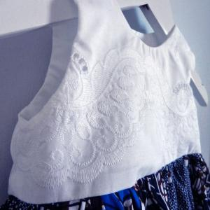 Duchesse or ange doa 291 robe wax dentelle bebe enfant baby child lace wax dress b modifie 1