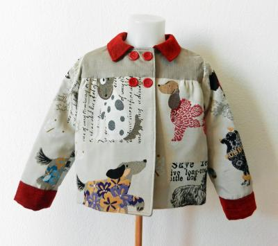 Dogs printed Antoinette lined jacket