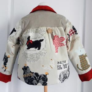 Duchesse or ange doa 296 veste antoinette motif chiens dogs jacket c