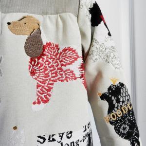 Duchesse or ange doa 296 veste antoinette motif chiens dogs jacket d