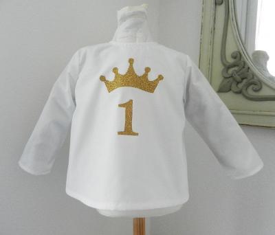 Chemise anniversaire motif couronne