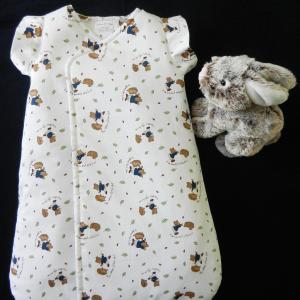 Duchesse or ange doa 298 gigoteuse croisee motif ours herissons baby sleeping bag bears pattern a