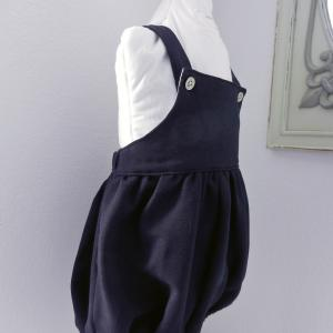 Duchesse or ange doa 299 barboteuse bleu marine navy baby rompers b