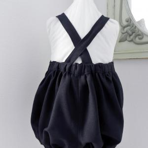 Duchesse or ange doa 299 barboteuse bleu marine navy baby rompers c
