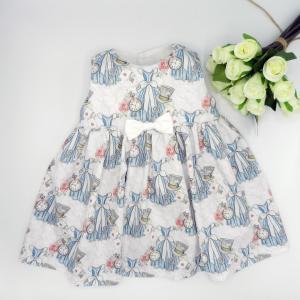 Duchesse or ange doa 308 robe sans manches merveilles blanches noeud blanc sur le devant a