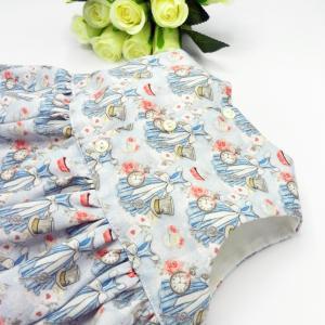 Duchesse or ange doa 308b robe sans manches merveilles bleues noeud blanc sur le devant d