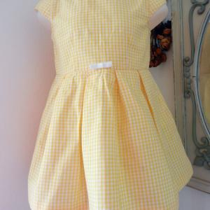 Duchesse or ange doa 71 duchesse or ange robe enfant vichy jaune yellow gingham dress child a