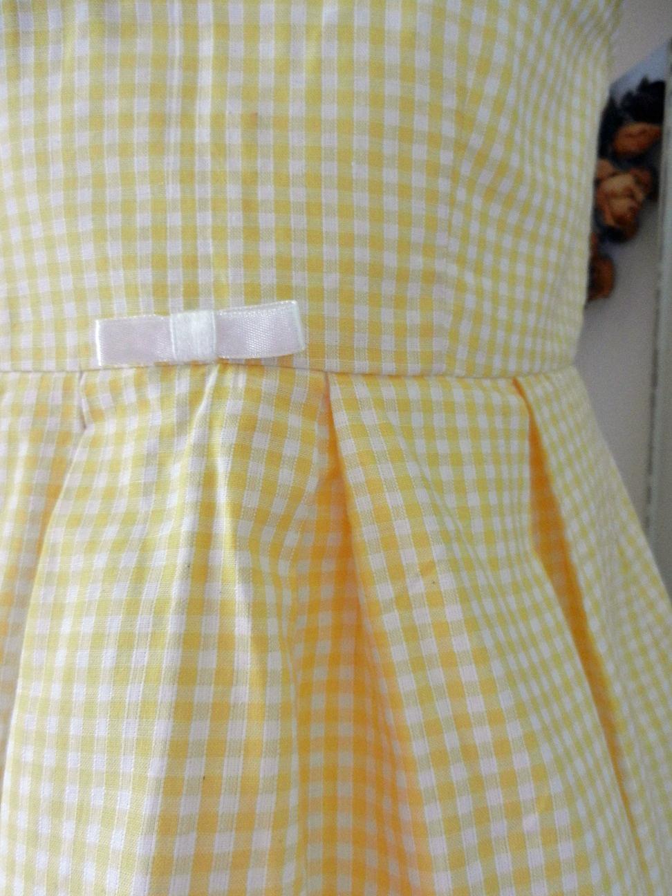 Duchesse or ange doa 71 duchesse or ange robe enfant vichy jaune yellow gingham dress child c