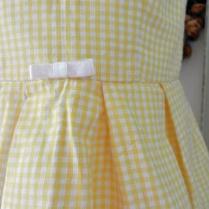 Duchesse or ange doa 71 duchesse or ange robe enfant vichy jaune yellow gingham dress child c