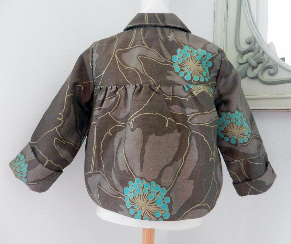 Duchesse or ange doa 81 duchesse or ange veste enfant marron brown child jacket b