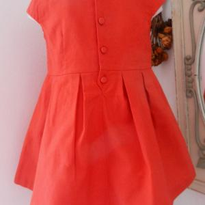 Duchesse or ange doa70 robe lin rouge a red linen dress b