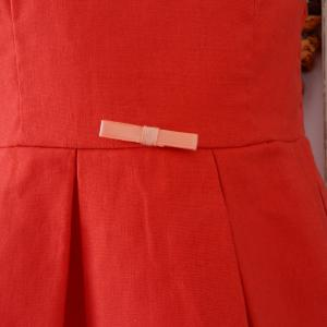 Duchesse or ange doa70 robe lin rouge a red linen dress c