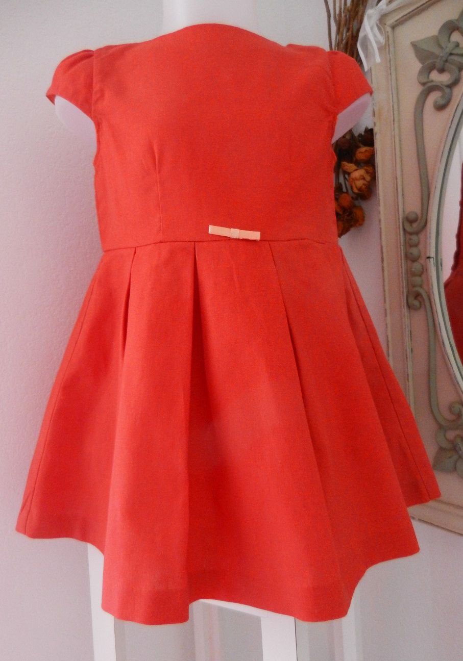 Duchesse or ange doa70 robe lin rouge red linen dress a