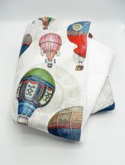 Duchesse or ange doaa 64 couverture bebe en imprime ballons dirigeables a 2