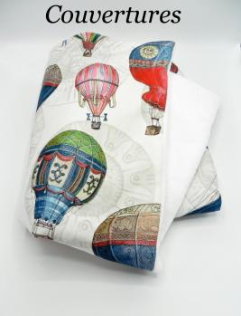 Duchesse or ange doaa 64 couverture bebe en imprime ballons dirigeables a copie