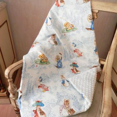 Couverture bébé en imprimé animaux Beatrix Potter