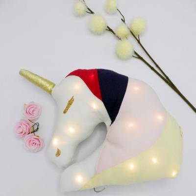 Coussin veilleuse licorne