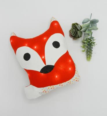 Coussin veilleuse renard orange