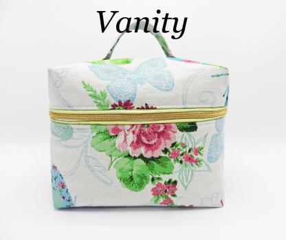 Duchesse or ange doaa 80 vanity fleurs et papillons passepoil or copie