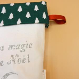 Duchesse or ange doaa 82 botte de noel blanche sapins verts prenom texte c