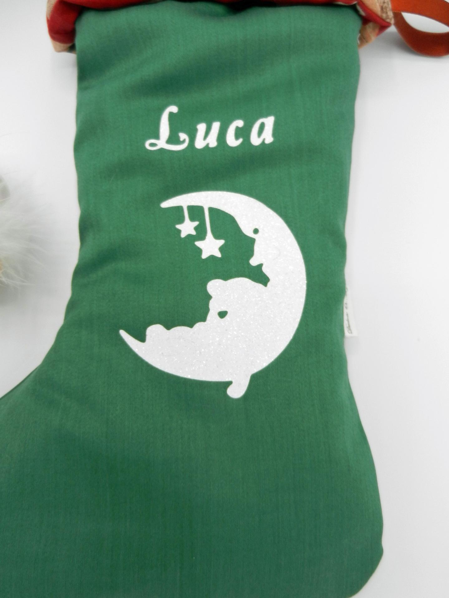Duchesse or ange doaa 82 botte de noel verte hibou rouge prenom texte b