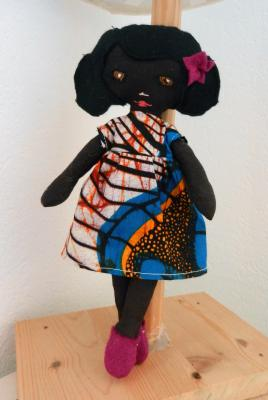 Small african Mistinguette rag doll
