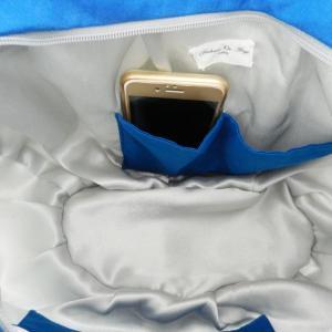 Duchesse or ange doas 1 sac marina toile de jouy bleu b