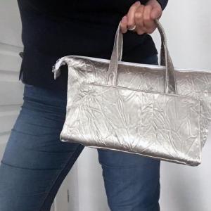 Duchesse or ange doas 5 sac boudoir tissu moire argent e