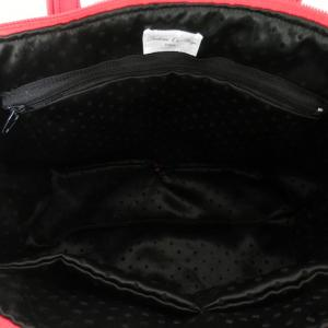 Duchesse or ange doas 9 sac boudoir rouge duveteux et satine d