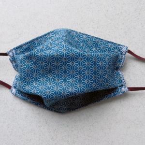 Duchesse or ange masques protection coton japonais saki bleu canard