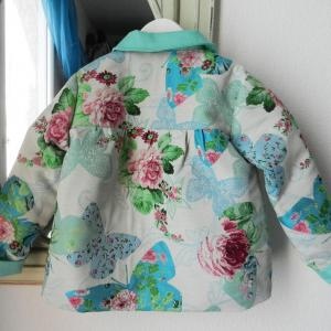 Duchesse or ange veste papillons vert enfant 6 ans child jacket butterfly green 6 years old b 1