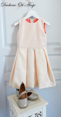 Robe sans manches à plis plats rose poudré - 6 ans